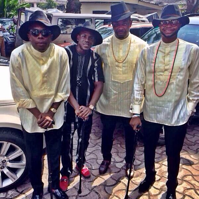 PIC] – MEN IN HAT:Donjazzy,olamide and others at Dr  Sid's